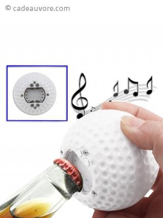 d capsuleur sonore en forme de balle de golf. Black Bedroom Furniture Sets. Home Design Ideas