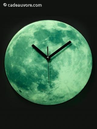 Horloge lune lumineuse for Horloge lumineuse