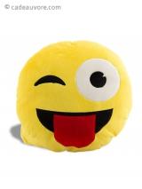 Coussin émoticône pleure de rire - cadeauvore.com