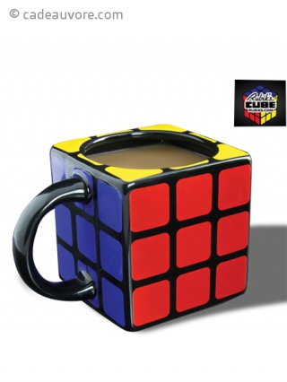 tasse en forme de rubik 39 s cube 3d. Black Bedroom Furniture Sets. Home Design Ideas