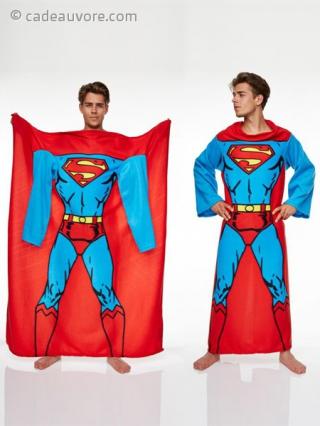 couverture polaire taille unique tenue de superman. Black Bedroom Furniture Sets. Home Design Ideas